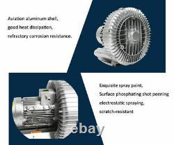 1500W High Pressure Vortex Air Pump Centrifugal Fan Suction & Blower 380V 3phase
