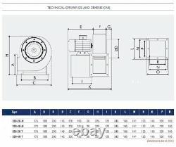 200-M TURBO Industrial Centrifugal Blower Fan Fume, Smoke Extractor Ventilation