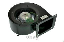 Centrifugal Blower Extractor Fan 200W 550m³/h 230V Industrial Heating Warm Air