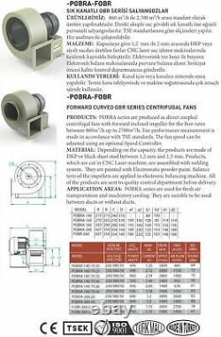 Centrifugal Fan 2600 m3/H 230V & Flange + Regulator Luftabsaugung Blower Nozzle
