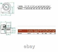 Centrifugal Fan 2600 m3/H 230V & Regulator Luftabsaugung Fan