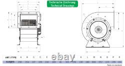 Centrifugal Fan Centrifugal Axial Centrifugal Industry 2200m³/H