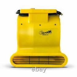Commercial Zoom FD-100 Carpet Dryer 3-Speed Air Blower 2000 CFM 1HP Portable Fan
