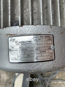 Industrial Centrifugal Fan Radial 1.5Kw Rietschle Commercial Extractor Blower