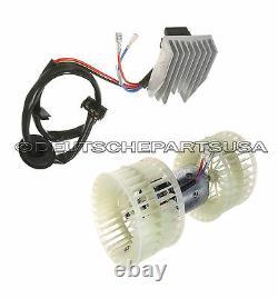 Mercedes W124 Heater A/c Fan Blower Motor & Blower Regulator Resistor Unit Set 2