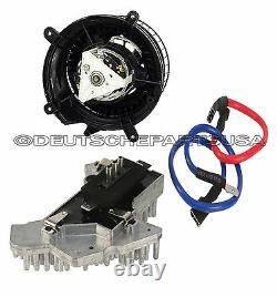 Mercedes W202 W210 Heater Fan A/c Blower Motor Regulator Resistor Unit Set