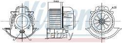 NISSENS 87076 Interior Fan Blower Motor