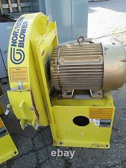 Northern Blower Centrifugal Fan 40-2725 Baldor Motor 40HP 3540RPM 230/460V Used