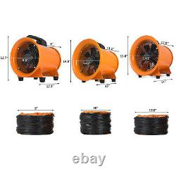 Portable Ventilator Axial Blower 8/10/12in Axial Motor Electrical Air mover