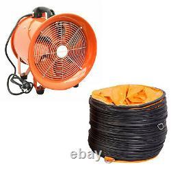 Portable Ventilator Axial Blower Ventilation Extractor Industrial Fan 10/12/16