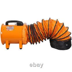 Portable Ventilator Axial Blower Workshop Ducting Extractor Industrial Fan 10