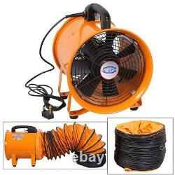 Portable Ventilator Axial Blower Workshop Extractor Fan 8/10/12/14/16/18/20/24