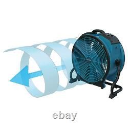XPOWER X-47ATR 1/3HP Industrial Sealed Motor Axial Fan Air Mover w Outlet, Timer