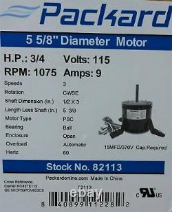 82113 Blower Fan Motor Pour Carrier Bryant Payne Hc45te113 5kcp39pgv623c 3/4 HP