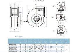 Blower Single Inlet Centrifugal Fans 180mm 240v Modèle Dyf 4e-180a-qd2a