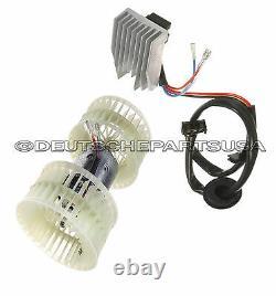 Mercedes W124 Heater A/c Ventilateur Blower Motor & Blower Regulator Resistor Unit Set 2