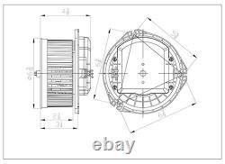 Montage De Ventilateur De Chauffage A/c Pour 05-19 Chevy Corvette Avec Blm