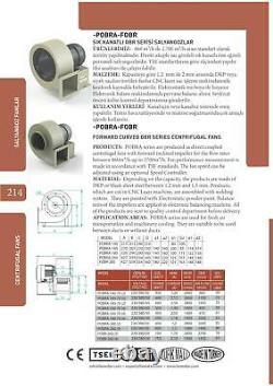 Ventilateur Centrifuge 2600 M3/h 230v & Régulateur Ventilateur Luftabsaugung