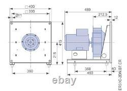 Ventilateur Centrifuge Haute Performance 1.1kw 2900rpm 3 Phase 5500m3/h Cuisines