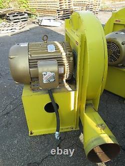 Ventilateur Centrifuge Northern Blower 40-2725 Baldor Motor 40hp 3540rpm 230/460v Utilisé