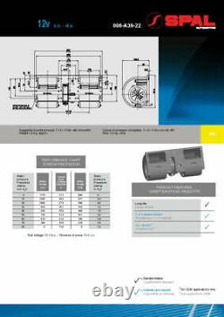 Ventilateur Centrifuge Spal, 006-a39-22, 4 Vitesses, 12v Produit Véritable
