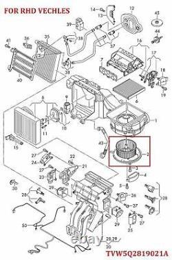 Ventilateur Chauffant Pour Skoda Octavia (2012-2018) Et Skoda Superb (2015-2018)