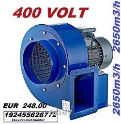 Ventilateur De Souffleur Centrifuge Industriel De 1800m3 + Extracteur De Contrôleur De Vitesse De 500watt