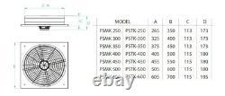 Ventilateur Industriel Commercial D'extracteur Axial De Métal, Ventilation De Souffleur D'air