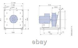 Ventilateur Industriel Très Grand 38000m3/h 7,5kw 400v 3 Phases Biomasse De Poussière De Fumée Ahu