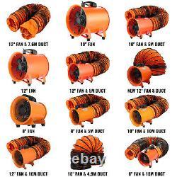 Ventilateur Portatif Axial Blower 8/10/12in Axial Motor Électricité Déplacement D'air