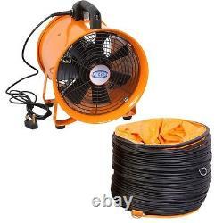Ventilateur Portatif Axial Blower Workshop Ventilateur D'extracteur 8/10/12/14/16/18/20/24