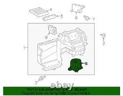 Véritable Toyota Sienna Sequoia Réchauffeur Avant A / C Ventilateur Moteur 87103-0c051